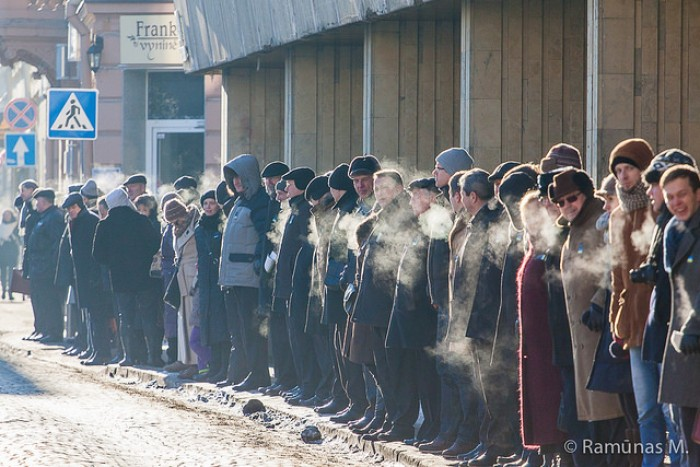 "(foto) Acțiunea socială ""United we stand for Ukraine"" a avut loc la Vilnius"