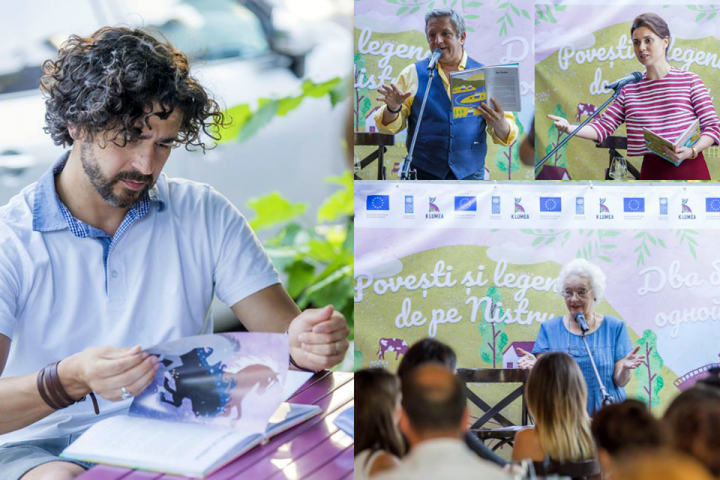 (foto) Natalia Morari, Pasha Parfeni, Andrei Porubin, Tamara Berzoi au citit Povești și legende de pe Nistru