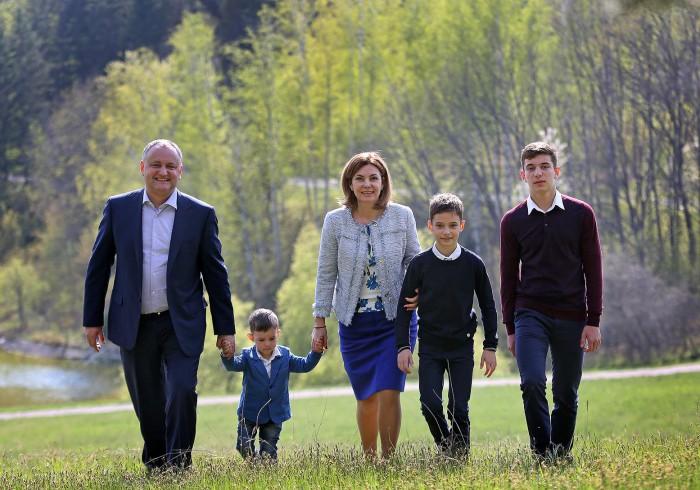 Galina Dodon, despre soțul său: Este o fire social orientată