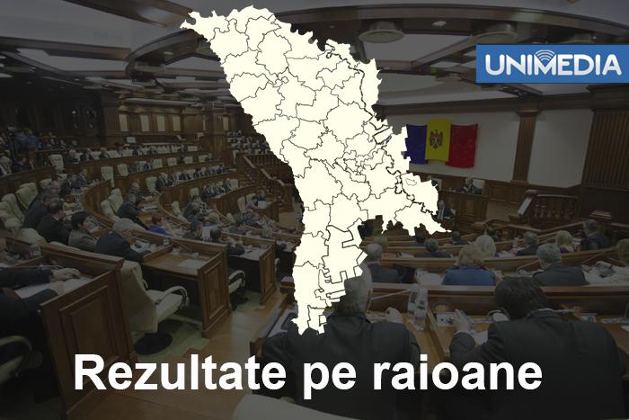 (grafic) Cum au votat majoritatea cetățenilor din raioanele RM