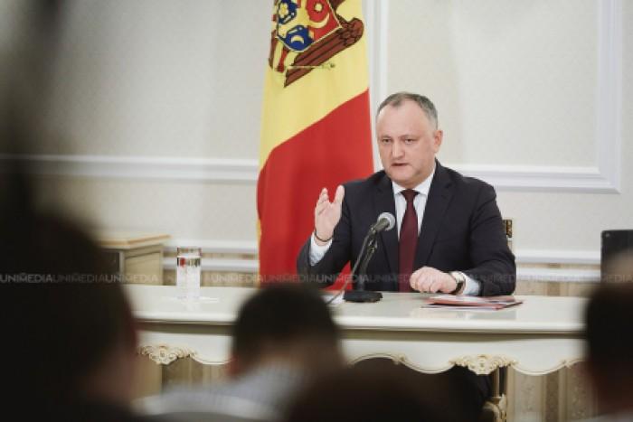 Igor Dodon a transmis Curții Constituționale motivele pentru care nu-l acceptă pe Eugen Sturza la funcția de ministru al Apărării