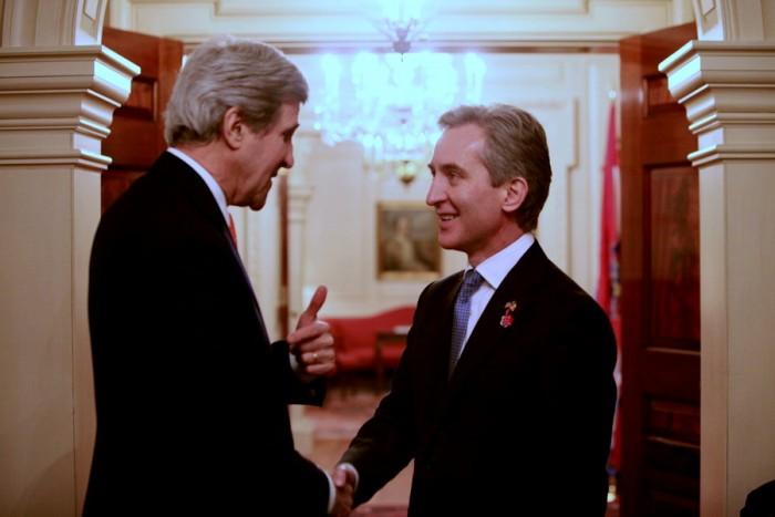 (video) John Kerry și Iurie Leancă au lansat, la Washington, dialogul strategic moldo-american