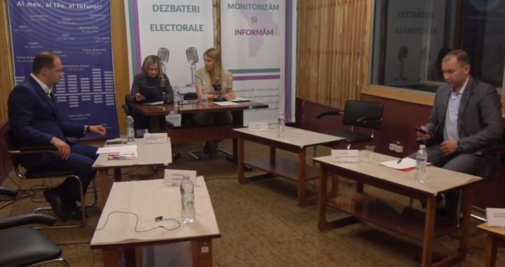 (video/update) Dezbateri electorale: Cu toate că au fost invitați patru candidați au venit doar doi