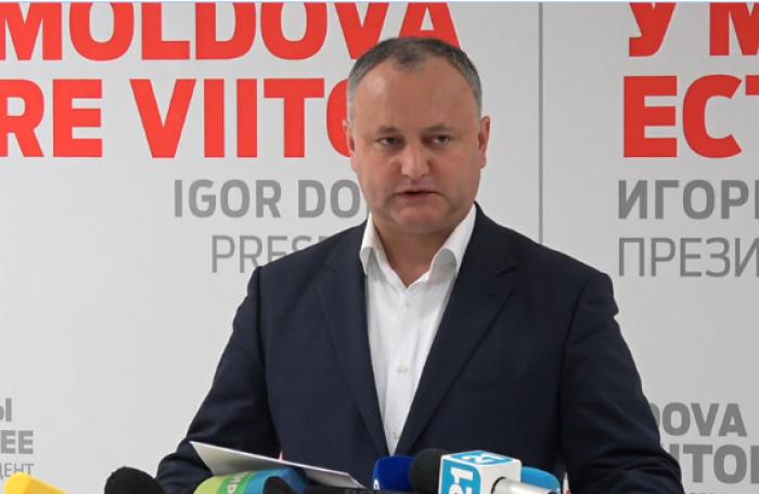 (video) Liderul PSRM este sigur că va câștiga scrutinul electoral din primul tur