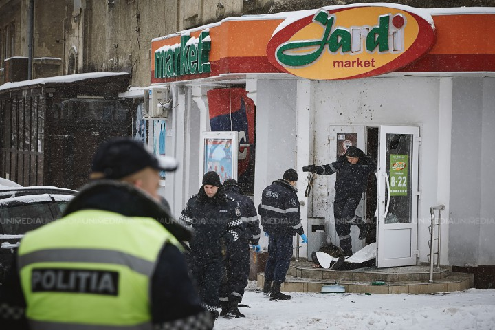 Motivul exploziei din centrul capitalei: Un bărbat ar fi avut un conflict la magazin și a detonat o grenadă de tip F1