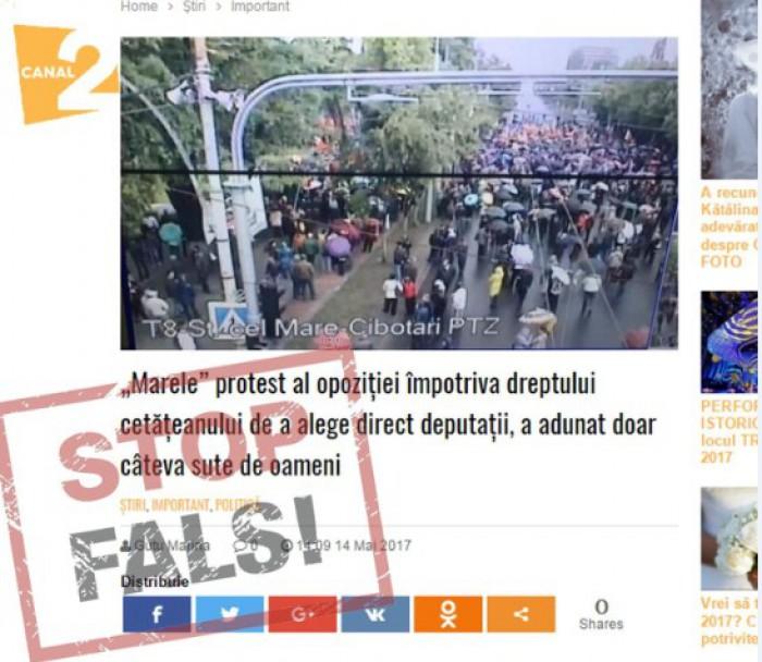 STOP FALS!: La protestul din 14 mai s-au adunat câteva sute de persoane