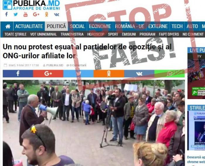 STOP FALS!: Protestul din 14 mai a fost planificat de organizaţiile neguvernamentale care fac partizanat politic