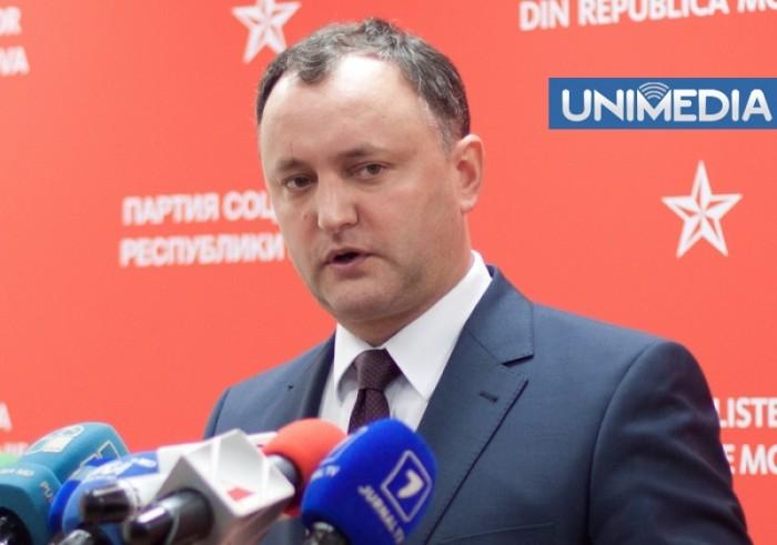 "(video) Dodon: ""Mitingul din 3 noiembrie este organizat prin șantaj și presiuni"""