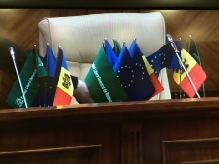 (video) PCRM, deranjat de decorul PLDM din Parlament. Petrenco: Prea mult verde!