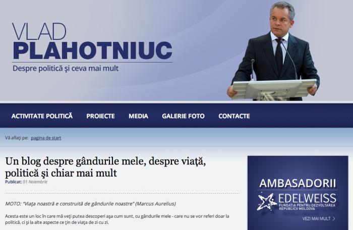 Vlad Plahotniuc a devenit blogger