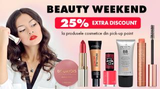 Beauty Weekend la sediul elefant.md: Reduceri de 25% la toate produsele cosmetice și parfumuri