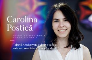 Carolina Postică, Dezvoltator Front-end: Tekwill Academy nu e doar o școală, este o comunitate a oamenilor din IT