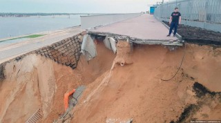 Dezastru la încheierea CM-2018. Un stadion nou construit a luat-o la vale după o ploaie puternică