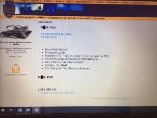 (foto) Atac informatic pe site-ul Primăriei București: Hackerii au publicat sloganul anti-PSD