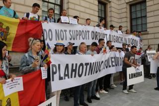(foto/video) Moldoveni din Marea Britanie au protestat față de invalidarea alegerilor, iar astăzi au creat o celulă de rezistență
