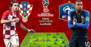 Franta vs. Croația: FINALA CM 2018. Cel mai bun pronostic la cota peste 2.00