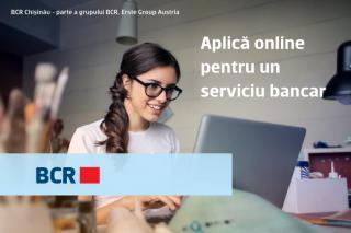 La BCR Chișinău poți solicita online servicii și produse bancare