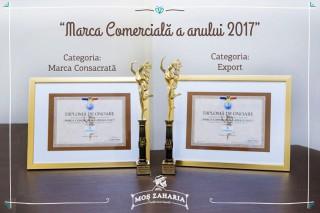 """Marca Comercială """"Moș Zaharia"""" a primit noi premii la Categoria """"Export"""" și Categoria """"Marca Consacrată"""""""