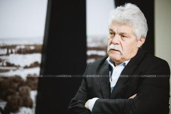Vasile Șoimaru în studioul UNIMEDIA