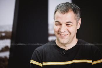 Octavian Țîcu în studioul UNIMEDIA