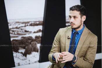 Dionis Cenușă în studioul UNIMEDIA