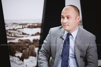 Sergiu Gurduza în studioul UNIMEDIA