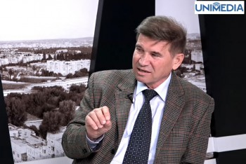Mihail Druță în studioul UNIMEDIA